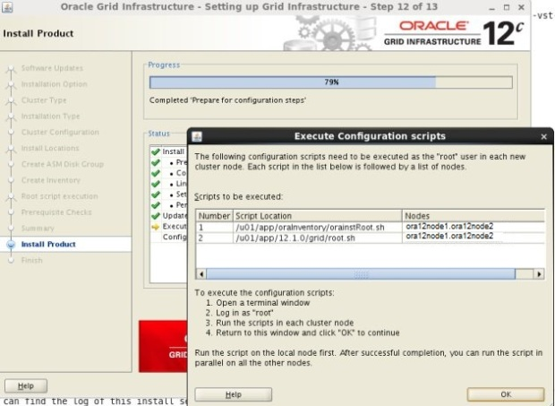 Installing 12c RAC on Oracle Linux 7 | Oracle Database